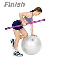 Image 2 - One knee on Swiss Ball, one arm Row with Sissel Exercise Ball and Sissel Body Toning Bar