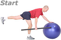 One Leg, One Arm Row with Sissel Exercise Ball and Sissel Body Toning Bar