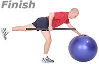 Image 2 - One Leg, One Arm Row with Sissel Exercise Ball and Sissel Body Toning Bar