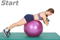 Thumb - Back Extensions with Sissel Exercise Ball and Sissel Body Toning Bar