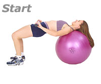 Bridge Glute Drop Supine on Sissel Exercise Ball with Sissel Body Toning Bar