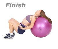 Image 2 - Bridge Glute Drop Supine on Sissel Exercise Ball with Sissel Body Toning Bar