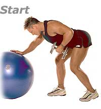 Image 1 - Dumbbell Bent-Over Row with Sissel Swiss Ball Pro
