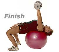 Image 2 - Decline Dumbbell Press on Sissel Swiss Ball Pro