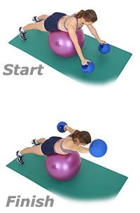 Image 1 - Front Crawl on Sissel Exercise Ball with Sissel Power Weight Ball