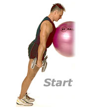 Incline Standing Calf Raises with Sissel Exercise Ball and Dumbbells
