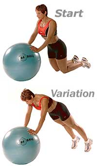Kneeling Push-Ups on Sissel Exercise Ball