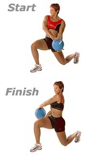 Image 1 - Lunge Cross-Overs with Medicine Ball