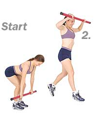 Power Lunge with Sissel Body Toning Bar