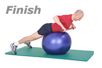 Image 2 - Prone wide-rip Row with Sissel Exercise Ball and Sissel Body Toning Bar