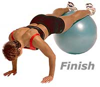 Image 2 - Push-Ups with Feet on Sissel Exercise Ball (Level 2)
