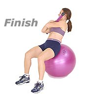 Image 2 - Side Crunch on Sissel  Exercise Ball with Sissel Body Toning Bar