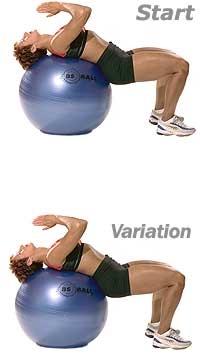Supine Abdominal Stretch with Sissel Exercise Ball