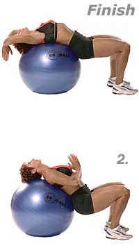 Image 2 - Supine Abdominal Stretch with Sissel Exercise Ball