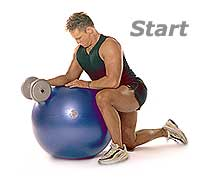 Thumb - Dumbbell Wrist Curls and Extensions on Sissel Swiss Ball Pro