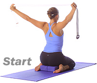 Image 1 - Yoga: Hero shoulder opener with blocks and straps